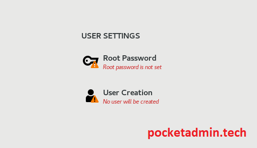 centos 8 password setup