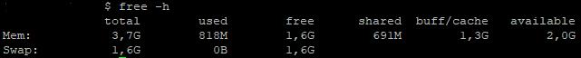 Linux утилита free