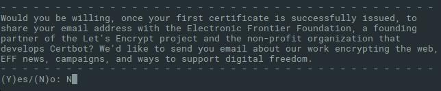 certbot centos 7 share email
