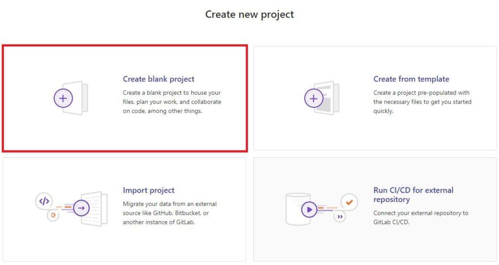 система управления версиями gitlab создание нового проекта